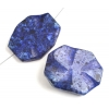 Nugget Facetted 27x31-35x45mm Granite Dyed Lapis